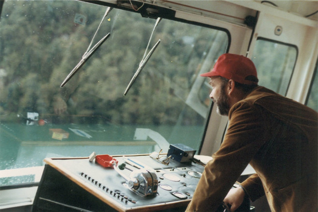 Jim Bengard on a transport river ship.